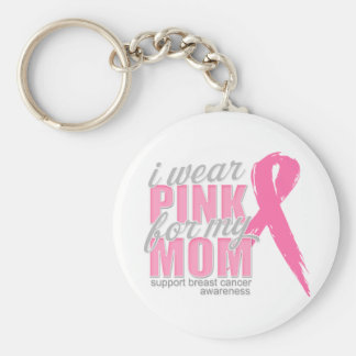 I Wear Pink For My Mom Keychain