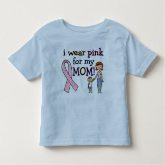 I Wear Pink for My Mom Kids Boys Toddler T-shirt