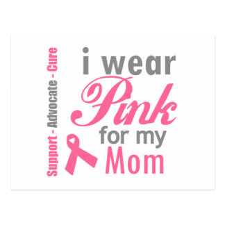 I Wear Pink For My Mom Post Card