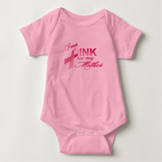 I wear pink for my mother baby bodysuit
