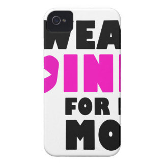 i wear pink for my mother Case-Mate iPhone 4 case