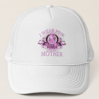 I Wear Pink for my Mother (floral) Trucker Hat