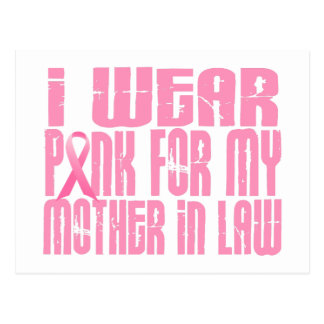 I Wear Pink For My Mother-In-Law 16 Postcard