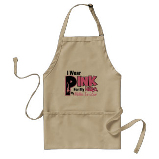 I Wear Pink For My Mother-In-Law 19 BREAST CANCER Adult Apron