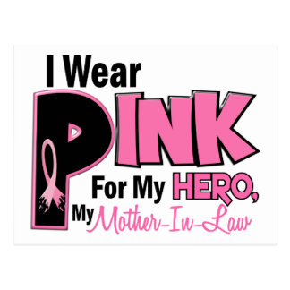 I Wear Pink For My Mother-In-Law 19 Postcard