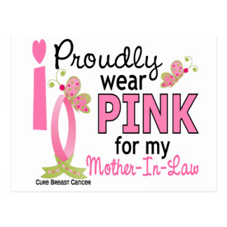 I Wear Pink For My Mother-In-Law 27 Breast Cancer Postcard