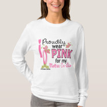 I Wear Pink For My Mother-In-Law 27 Breast Cancer T-Shirt