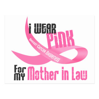 I Wear Pink For My Mother-In-Law 33 Postcard