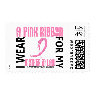 I Wear Pink For My Mother-In-Law 46 Breast Cancer Postage Stamps