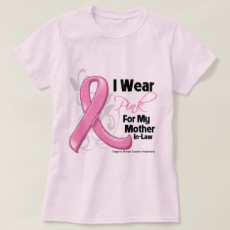 I Wear Pink For My Mother-in-Law - Breast Cancer Shirt