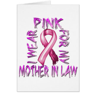 I Wear Pink for my Mother in Law.png Greeting Card