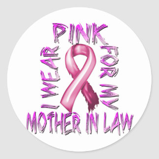 I Wear Pink for my Mother in Law.png Classic Round Sticker