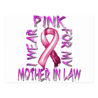 I Wear Pink for my Mother in Law.png Postcard