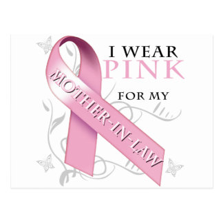 I Wear Pink for my Mother-In-Law Postcard