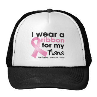 I Wear Pink For My Nana Breast Cancer Hats