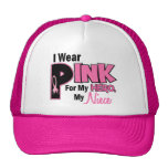 I Wear Pink For My Niece 19 BREAST CANCER Trucker Hat