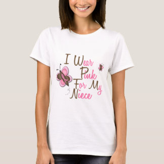 I Wear Pink For My Niece 22 BREAST CANCER T-Shirts