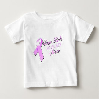 I Wear Pink for my Niece.png Baby T-Shirt