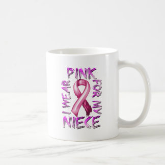 I Wear Pink for my Niece.png Classic White Coffee Mug