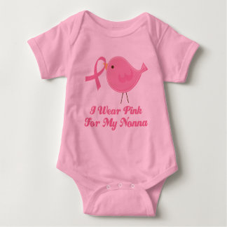 I Wear Pink For My Nonna Baby Bodysuit