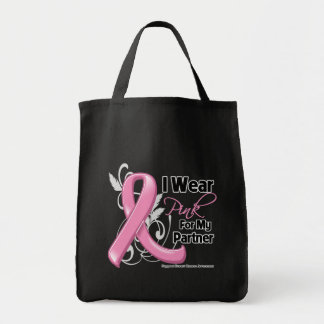 I Wear Pink For My Partner - Breast Cancer Tote Bag