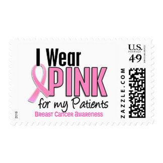I Wear Pink For My Patients 10 Breast Cancer Stamps