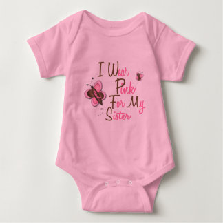 I Wear Pink For My Sister 22 BREAST CANCER T-Shirt