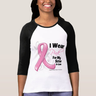 I Wear Pink For My Sister-in-Law - Breast Cancer T-Shirt