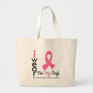 I Wear Pink For My Wife Breast Cancer Tote Bag