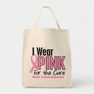 I Wear Pink For The Cure 10 Breast Cancer Tote Bag