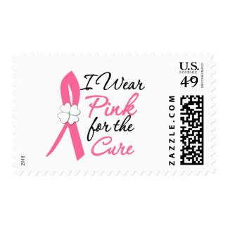 I Wear Pink For The Cure Stamps