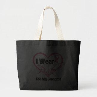 I Wear Pink Heart Ribbon Grandma Breast Cancer Tote Bag