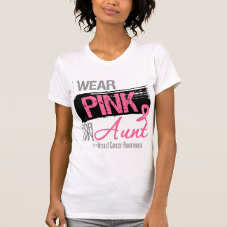 I Wear Pink Ribbon For My Aunt Breast Cancer T-Shirt