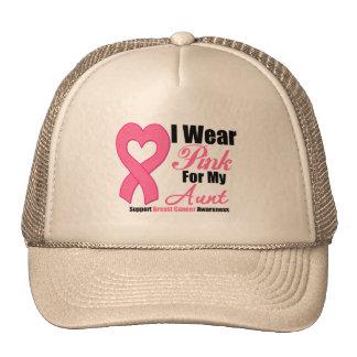 I Wear Pink Ribbon For My Aunt Trucker Hats