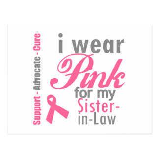 I Wear Pink Ribbon For My Sister-in-Law Postcard