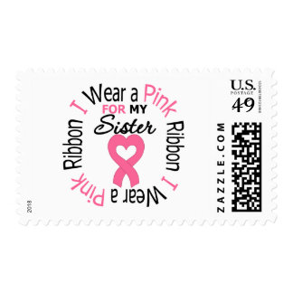 I Wear Pink Ribbon For My Sister Stamp