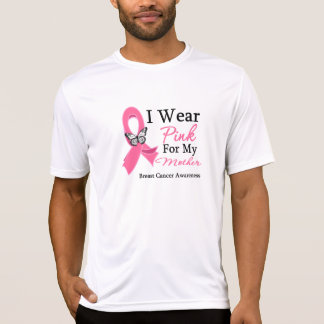 I Wear Pink Ribbon Mother Breast Cancer Tshirts