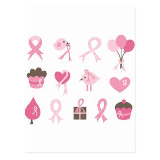I Wear Pink Ribbon Postcard