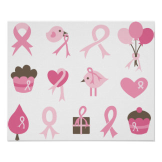 I Wear Pink Ribbon Posters