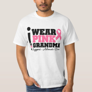 I Wear Pink Ribbon Support For My Grandma T Shirts