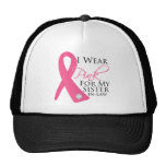 I Wear Pink Sister-in-Law Breast Cancer Mesh Hats