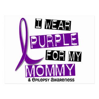 I Wear Puple For My Mommy 37 Epilepsy Postcard