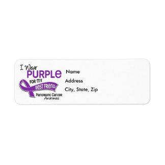 I Wear Purple 42 Best Friend Pancreatic Cancer Label