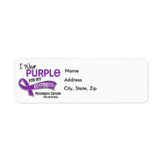I Wear Purple 42 Boyfriend Pancreatic Cancer Label