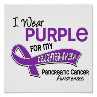 I Wear Purple 42 Daughter-In-Law Pancreatic Cancer Posters