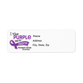 I Wear Purple 42 Daughter Pancreatic Cancer Label