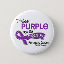 I Wear Purple 42 Father-In-Law Pancreatic Cancer Button