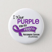 I Wear Purple 42 Friend Pancreatic Cancer Button