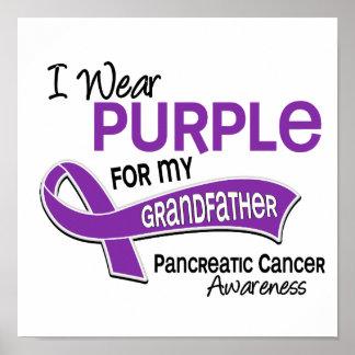 I Wear Purple 42 Grandfather Pancreatic Cancer Print