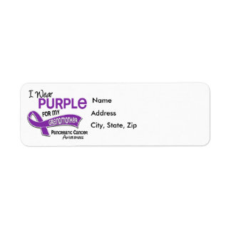 I Wear Purple 42 Grandmother Pancreatic Cancer Label